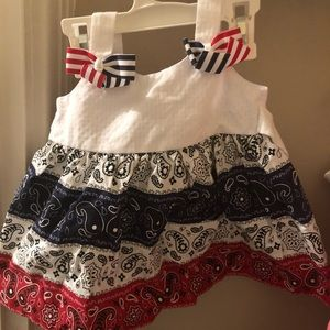 Patriotic baby bandana dress